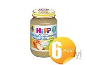 Organik Üzümlü Elmalı Pirinçli Meyve Püresi 190gr 6 Adet Hipp