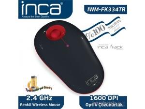 Inca Vivre IWM-FK334TR Inca-Track 1600 Dpi Wireleless Nano Alıcılı Siyah Kırmızı