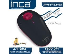 Inca Vivre IWM-FP334TR Inca-Track 1600 Dpi Wireless Nano Alıcılı Siyah Pembe