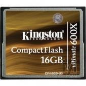 Kingston CompactFlash Ultimate 16GB 600x CF/16GB-U3