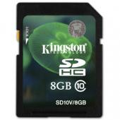 Kingston SDHC Video 8GB Class 10 SD10V/8GB