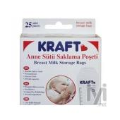 Kraft Süt Saklama Poşeti 25` li KRF-EMB001