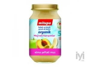 Milupa Kavanoz Maması Organik Elma Muz Şeftali 200 gr