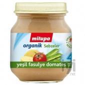 Milupa Organik Yesil Fasulye Domates 125 gr