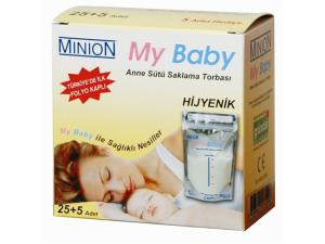 Bebeğim Anne Sütü Saklama Torbası Minion