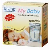 Minion Bebeğim Anne Sütü Saklama Torbası