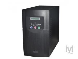 2000VA, Online, 8 Adet 12V 5AH Akü, 5-15 Dk , UPS, Siyah Necron
