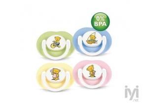 0% BPA Yalanci Emzik 3-6 Ay Desenli 2 li Philips Avent