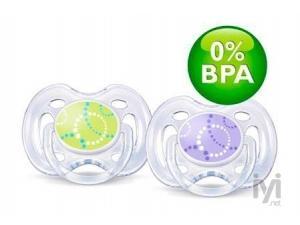 Philips Avent 0 BPA Free Flow Yalancı Emzik 0-6 Ay Yeşil Mor Desenli Ikili Philips Avent