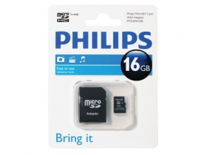 MicroSDHC 16GB Class 4 Philips