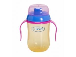 Damla Akıtmaz Sert Uçlu Kulplu Bardak 270 ml(BPA%0) Dr Brown's