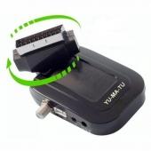 Yumatu Mini Scart Uydu Alıcısı Sirius ve Biss Şifre Çözücülü