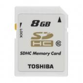Toshiba 8GB SDHC Kart Class 10 RAMSEC8192TOS110