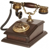 Anna Bell Şato Ahşap Ceviz Klasik Telefon