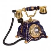 Anna Bell Barok Porselen Kobalt Antik Telefon
