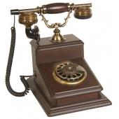 Anna Bell Büyük Büro Ceviz Ahşap Telefon