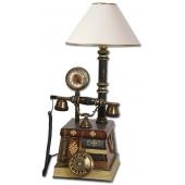 Anna Bell Abajurlu Saatli Kitap Eskitme Klasik Telefon
