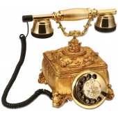 Anna Bell Konak Sade Altın Varaklı Telefon