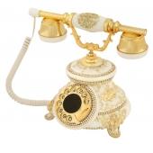 Anna Bell Güllü Beyaz Varaklı Swarovski Taşlı Telefon