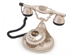 Anna Bell Antik Damla Gümüş Varaklı Swarovski Taşlı Telefon