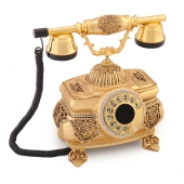 Anna Bell Kristal Altın Varaklı Swarovski Taşlı Telefon