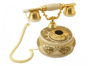 Anna Bell Villa Kemik Varaklı Swarovski Taşlı Telefon