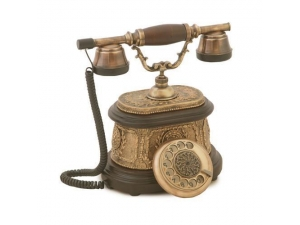 Anna Bell Hisar Ahşap Eskitme Telefon