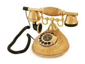 Anna Bell Hasır Altın Varaklı Swarovski Taşlı Telefon