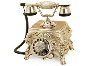 Anna Bell Gümüş Varaklı Aslanlı Swarovski Taşlı Telefon