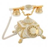 Anna Bell Osmanlı Beyaz Varaklı Swarovski Taşlı Telefon