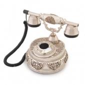Anna Bell Villa Gümüş Varaklı Swarovski Taşlı Telefon