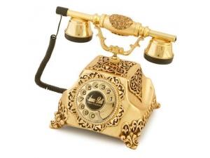 Anna Bell Şehrazat Antik Altın Varaklı Telefon