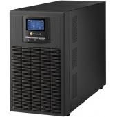 Tuncmatik 3KVA, Online, 6 Adet 12V 9AH Akü, 5-12 Dk , LCD UPS, Siyah (NEWTECH-ECO-3KVA)