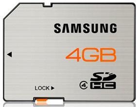 Samsung SDHC 4GB Class 4