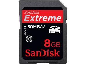 SDHC Extreme 8GB Class 10 Sandisk