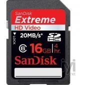 Sandisk SDHC Extreme Video 16GB