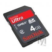 Sandisk SDHC Ultra 4GB
