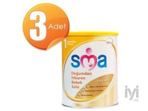 SMA Gold 1 Biberon Maması 900 gr 3 Adet