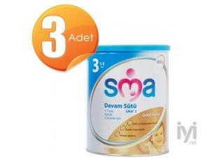 Gold 3 Devam Sütü (Bebek Maması) 900 gr 3 Adet SMA