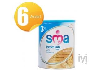 Gold 3 Devam Sütü (Bebek Maması) 900 gr 6 Adet SMA