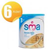 SMA Gold 3 Devam Sütü (Bebek Maması) 900 gr 6 Adet
