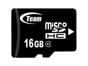 Micro SDHC Class 6 16GB TMMSD16GC6 Team