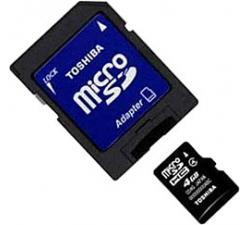 4 Gb Micro Sdhc Class-4 Toshiba