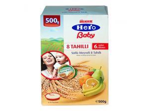 Hero Baby Sütlü Meyveli 8 Tahıllı 500 Gr Ülker Hero Baby