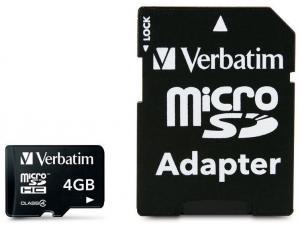 microSDHC 4GB Verbatim