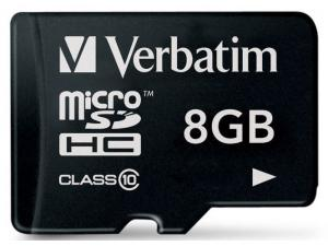 MicroSDHC 8GB Class 10 Verbatim